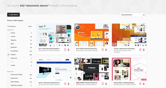 electronics shopify themes on Envato Elements