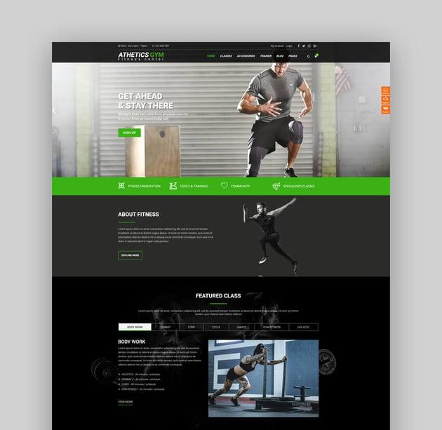 Athetics - CrossFit Gym Fitness WordPress Theme