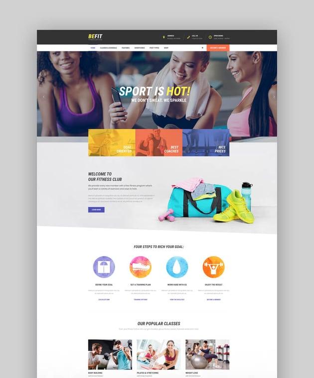 Be Fit - CrossFit Fitness Club WordPress Theme