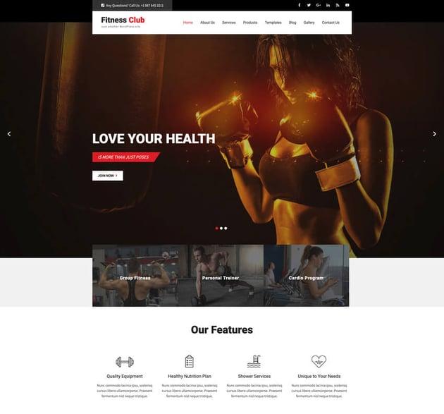 FightClub - Premium CrossFit WordPress Template
