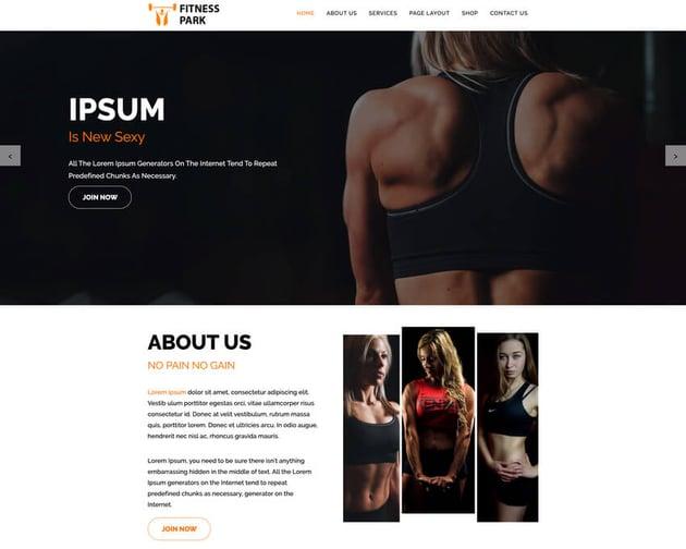 Fitness Park - Fitness WordPress Theme Free Download