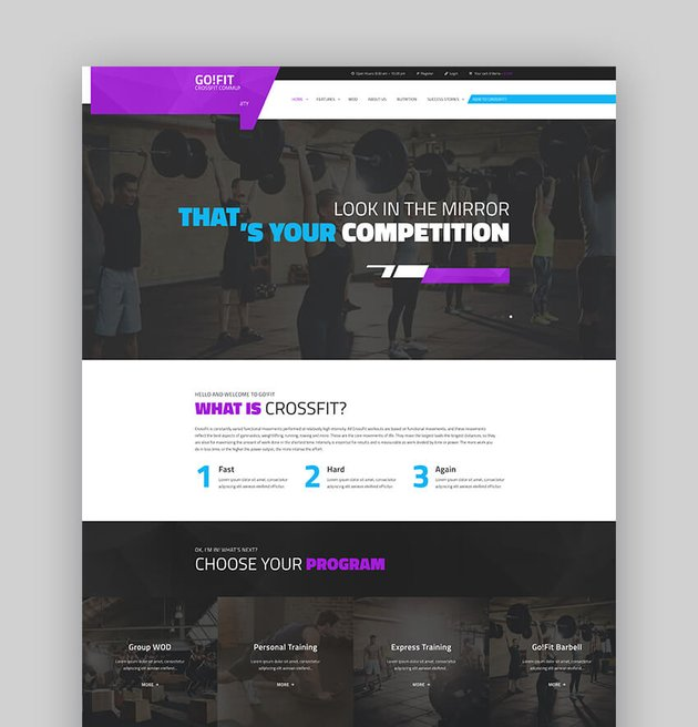 GoFit Fitness Gym and CrossFit WordPress Template