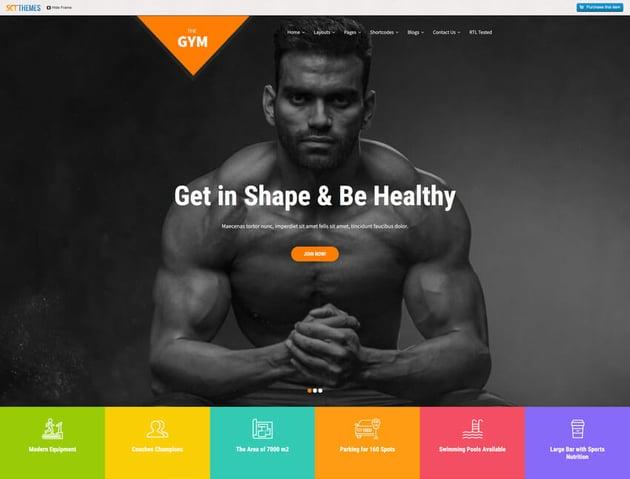 SKT Gym - Fitness WordPress Theme Free Download