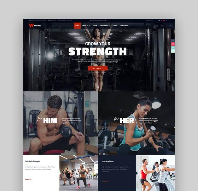 WizeFit - CrossFit Fitness Club WordPress Theme For CrossFit Websites