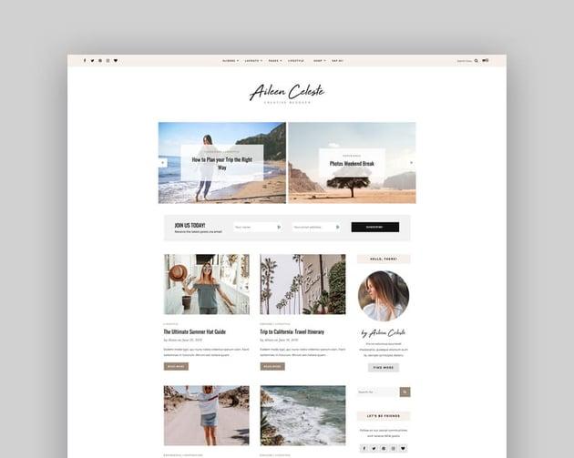 Aileen - An Easy WordPress Blog Theme