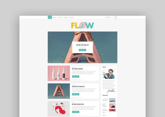 Flow - Responsive WordPress Blog Theme