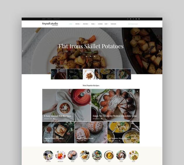 TinySalt - Personal Food Blog WordPress Theme