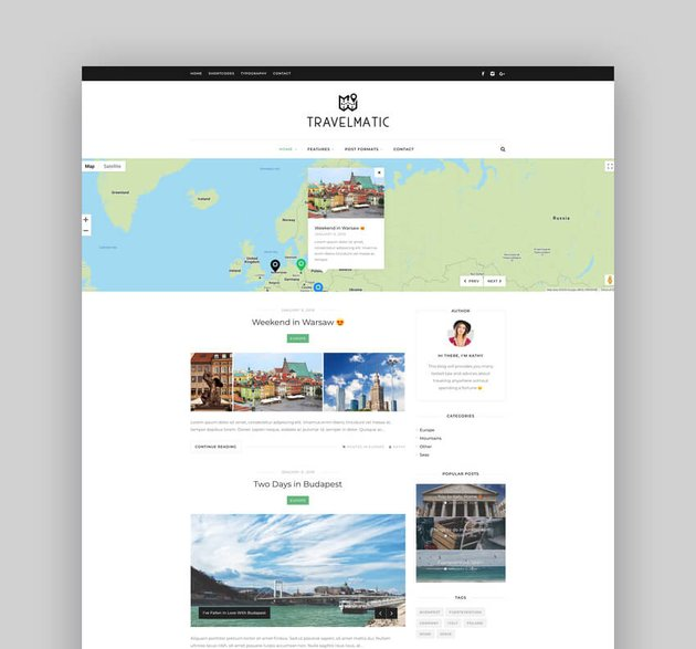 Travelmatic - Adventure Trips Family Blog WordPress Theme