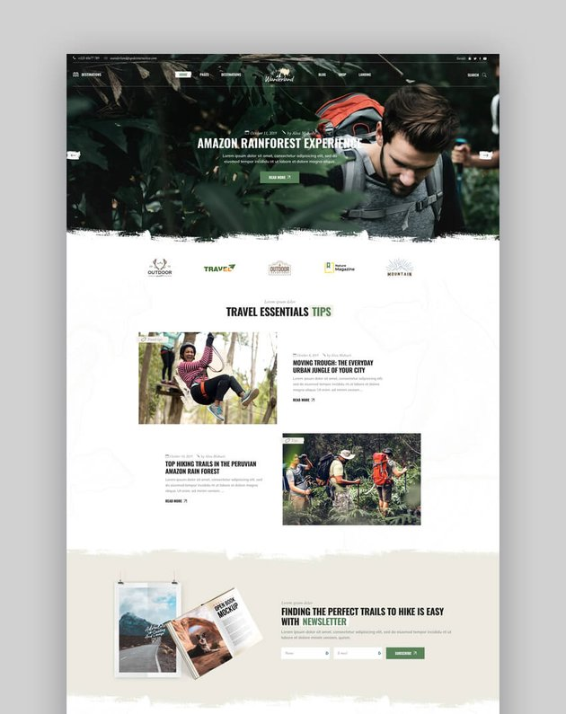 Wanderland - Clean Blog and Magazine Theme