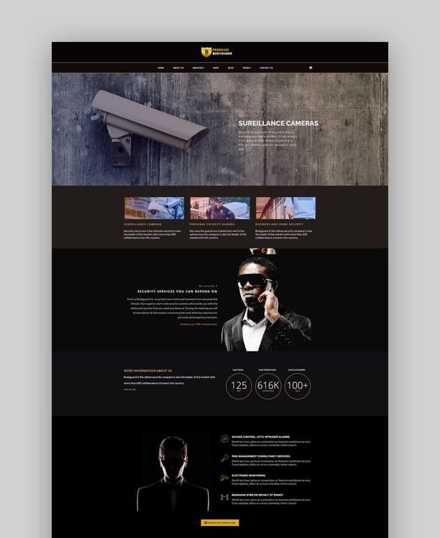 Bodyguard - Security and CCTV WP Theme