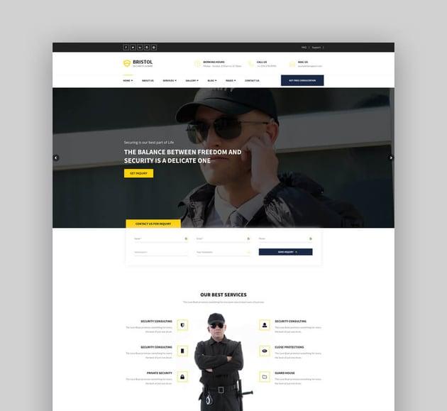 Bristol - Security  Guarding Services WordPress Theme