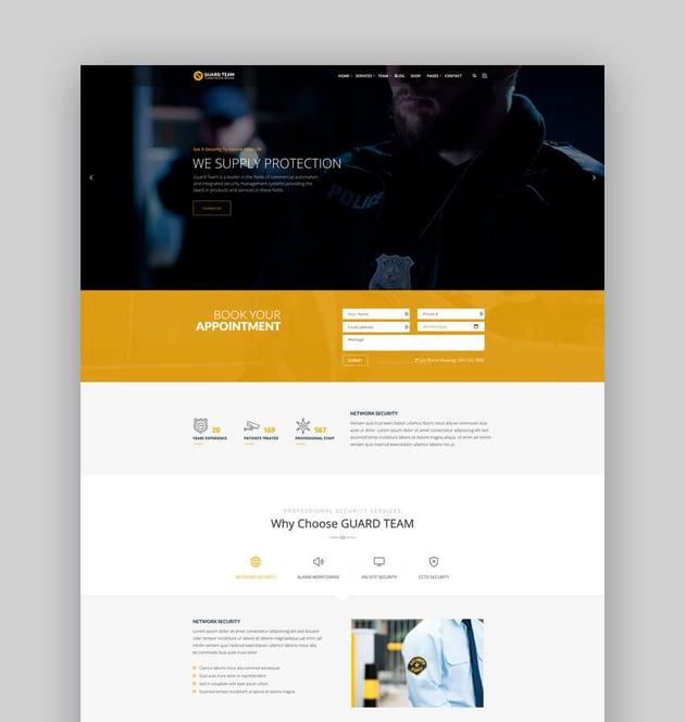 Guard Team - Security WordPress Theme