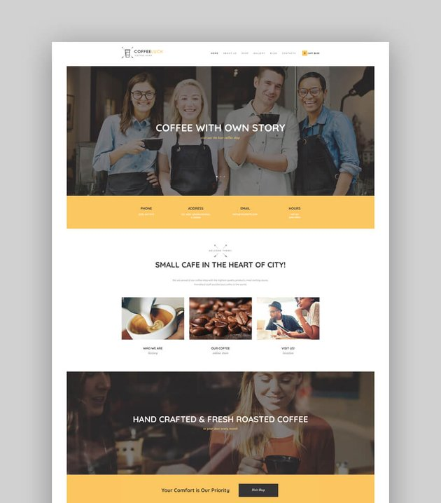 Coffee Luck  Cafe Restaurant  Shop WordPress Theme