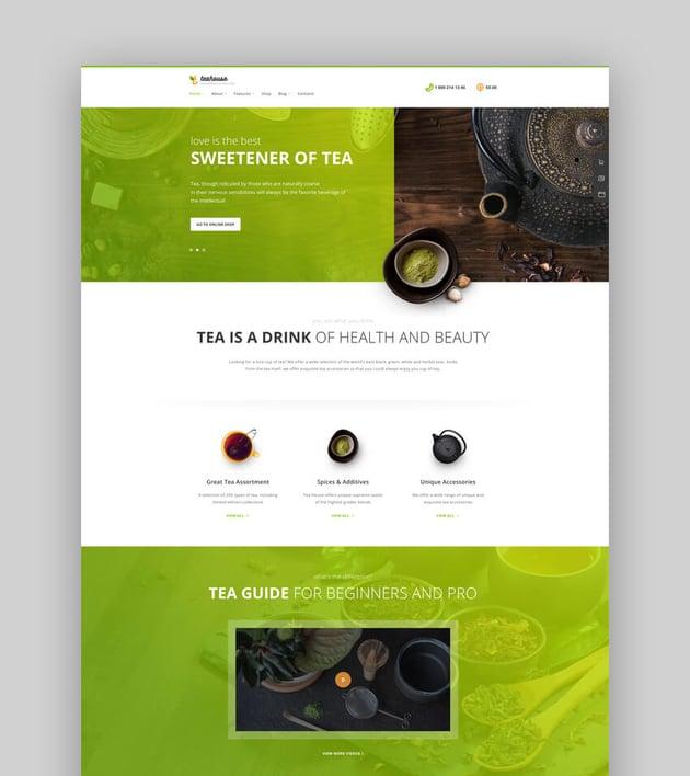 TeaHouse  Tea Store and Coffee Shop WordPress Theme