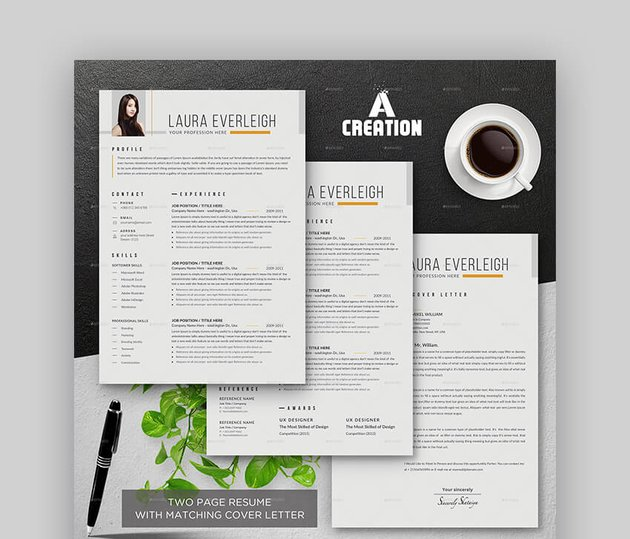 Clean and Professional Graphic Design Resume Template