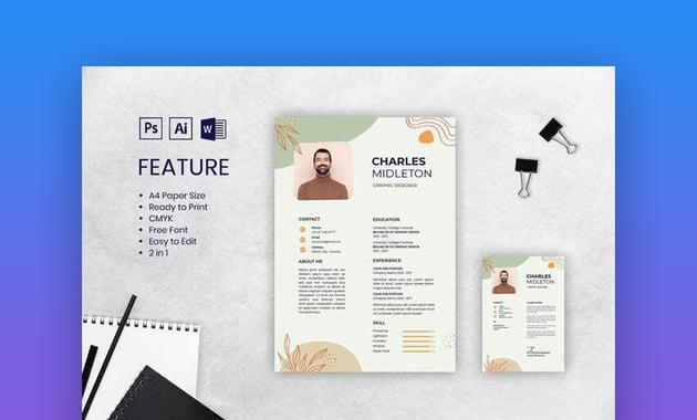 CV Resume Creative Template Design