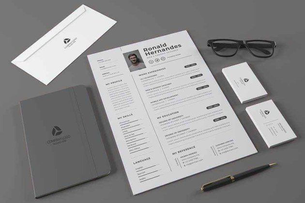 This creative resume template makes it easy to add social links