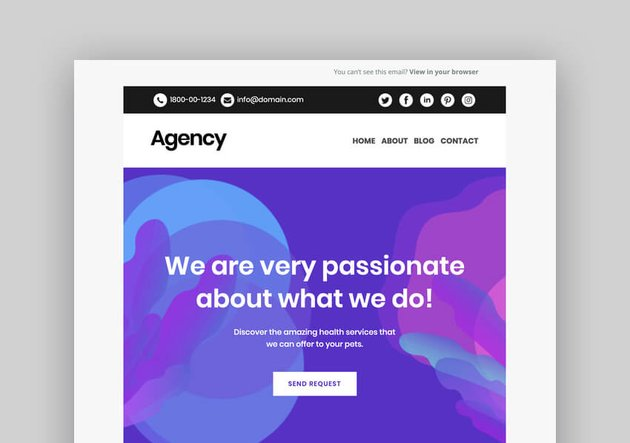 Agency - Mobile Responsive Mailchimp Template