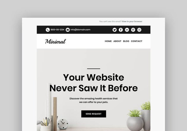 Minimal - Mailchimp Responsive Email Template