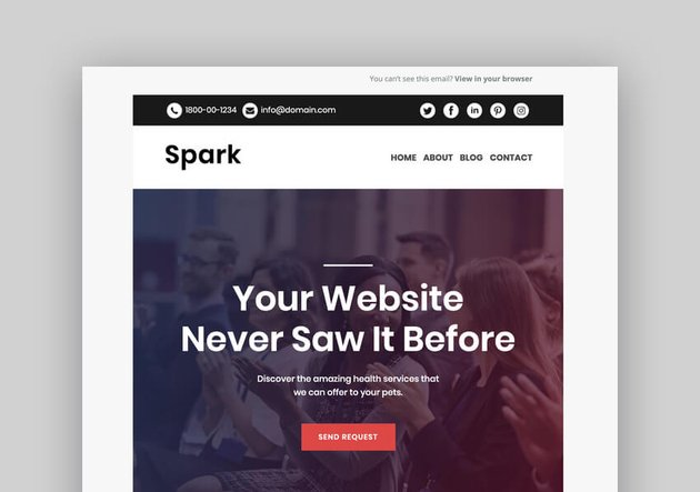 Spark - Mailchimp Responsive Email Template