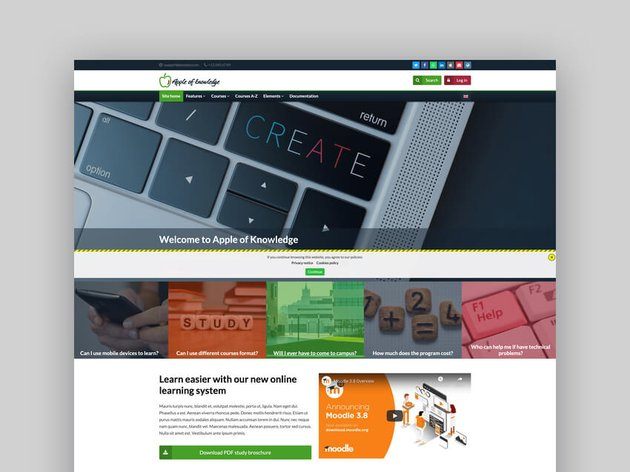Apple Of Knowledge - Responsive Moodle Theme