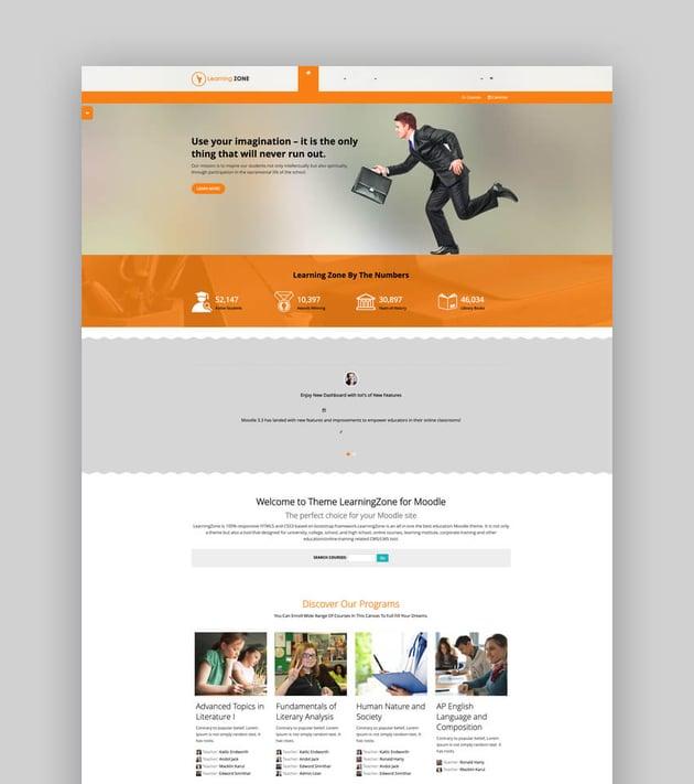 LearningZone - Moodle University Website Theme