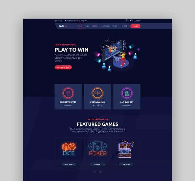 Dooplo - Gaming Website HTML Template