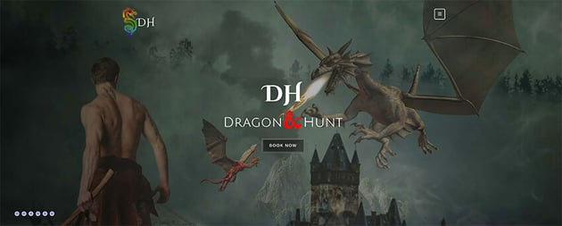 Dragon Hunt Free Video Game Website Template