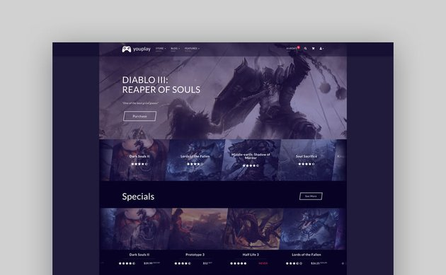 Youplay - Video Game Template