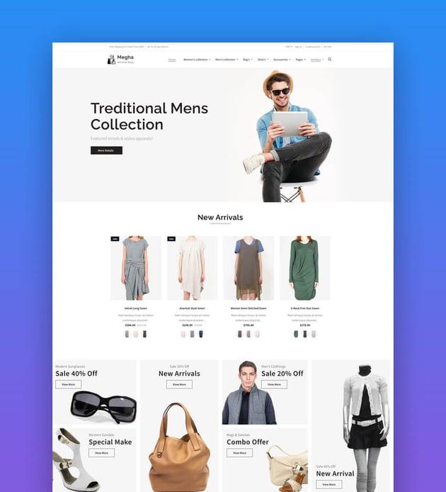 Megha - Fashion Store Shopify AR Theme