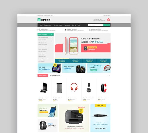 Branchy - Multipurpose Stencil BigCommerce Theme