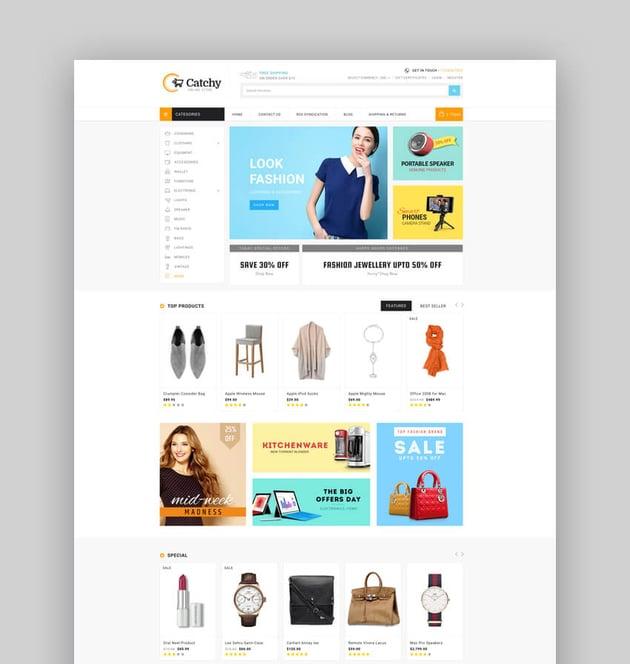 eMartica - Premium Responsive Supermarket BigCommerce Template Stencil Ready
