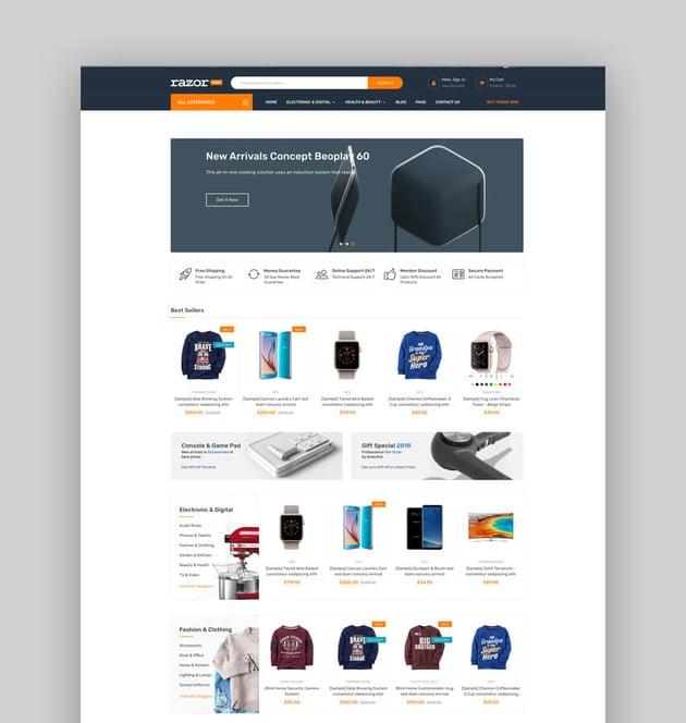 Razor - Electronics Store BigCommerce Theme