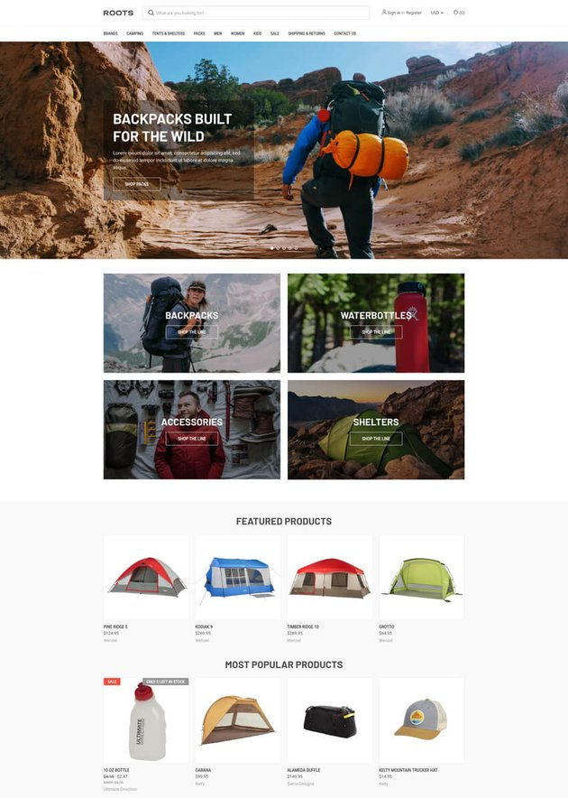 Roots-Original Free BigCommerce Theme