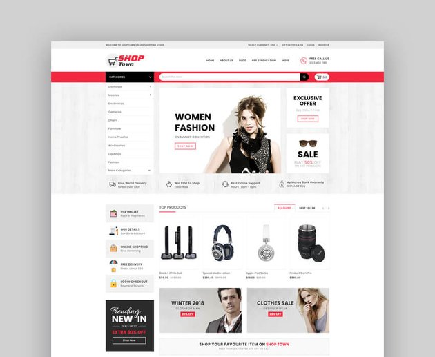 Shop Town - Multipurpose Stencil BigCommerce Theme