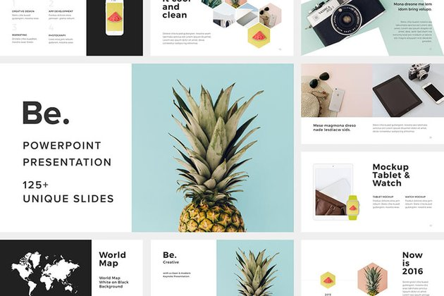 Be PowerPoint Presentation Template