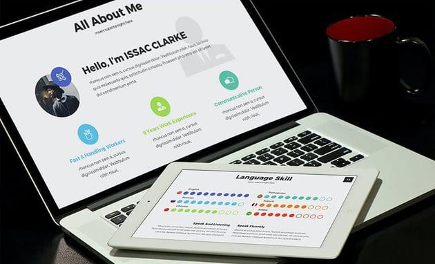 MEA Portfolio PowerPoint template