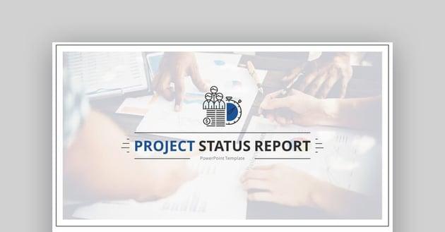 Elder 30  A Project Status Report PowerPoint Template