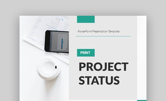 A4 Project Status PowerPoint Presentation Template for Print