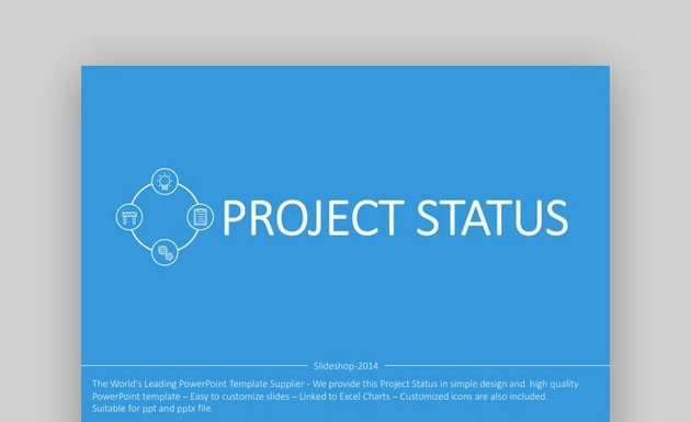 Project Status Flat PowerPoint Template