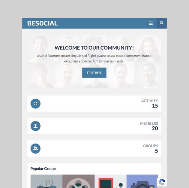 Besocial - Social Networking and Community WordPress Theme