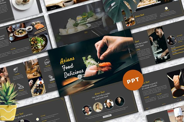 Asians Food PowerPoint Template