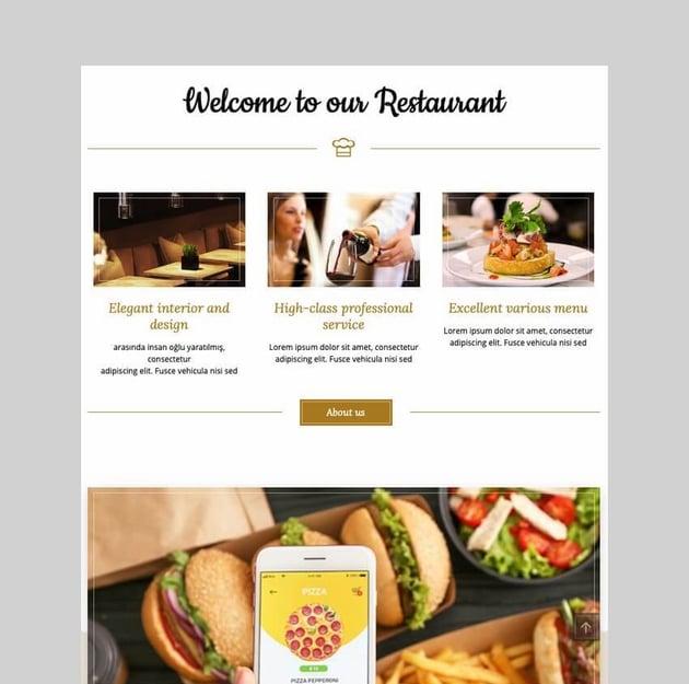Bon Appetit food ordering WordPress theme