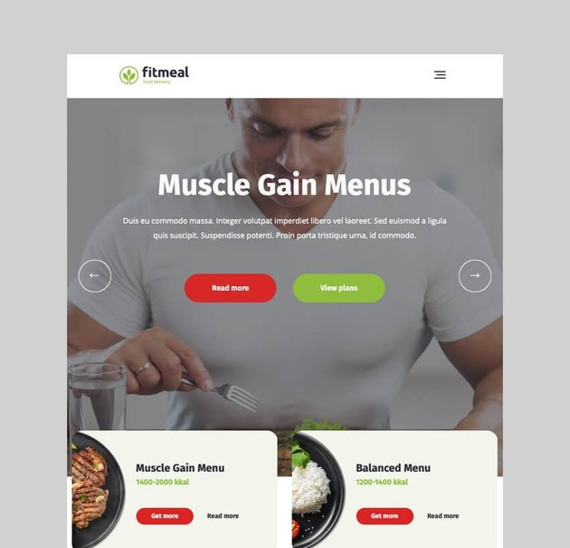 Fitmeal healthy food delivery WordPress theme