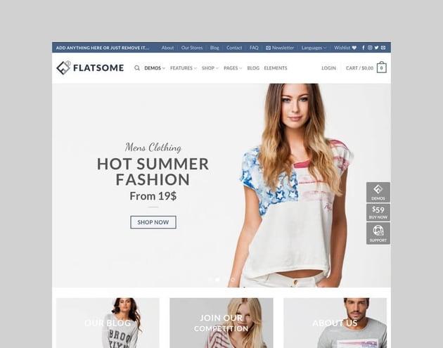 Flatsome WordPress theme for dropshipping