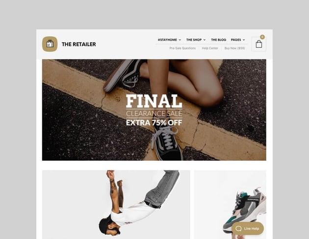 The Retailer WordPress WooCommerce theme