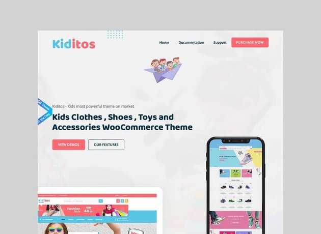 Kiditos baby and kids WooCommerce theme