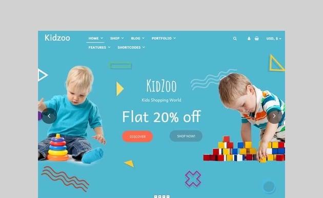 kidzoo kids and baby woocommerce theme