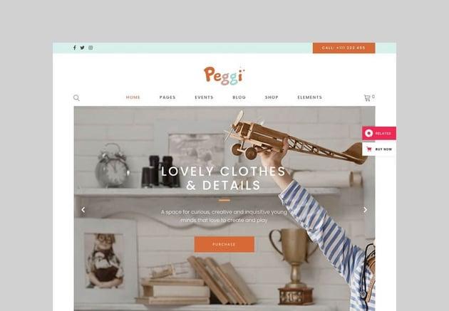 peggi multipurpose wordpress theme