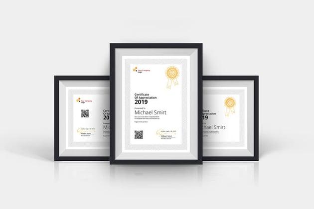Clean Certificates Template